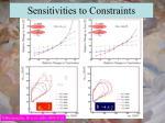 sensitivities to constraints