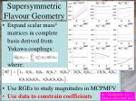 supersymmetric flavour geometry
