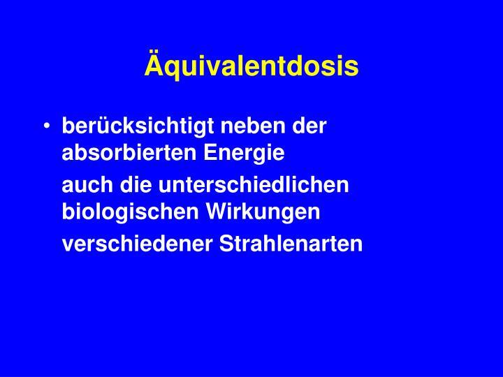 Äquivalentdosis