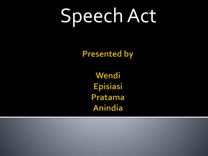speech act n.