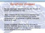 variations cliniques