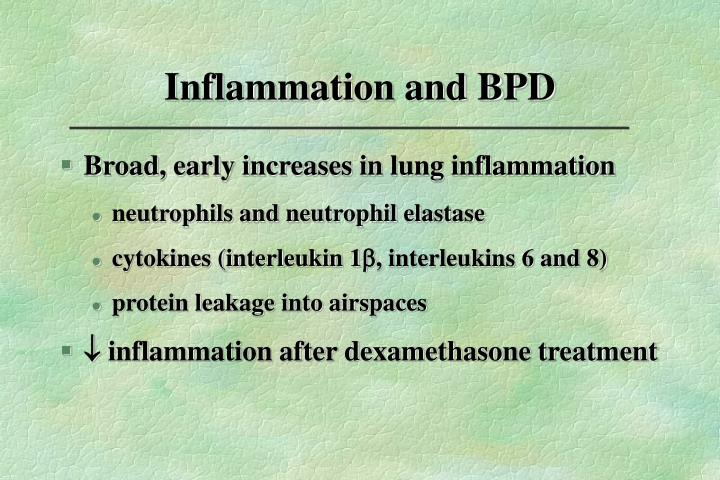 Inflammation and BPD