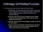 cwinapp onfilenew function1