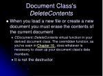 document class s deletecontents