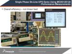 single phase on line ups demo using mc9s12e128 performance measurements2