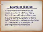 examples cont d