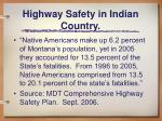 highway safety in indian country