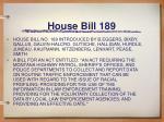 house bill 189