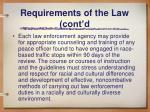 requirements of the law cont d2