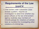 requirements of the law cont d3