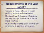 requirements of the law cont d4