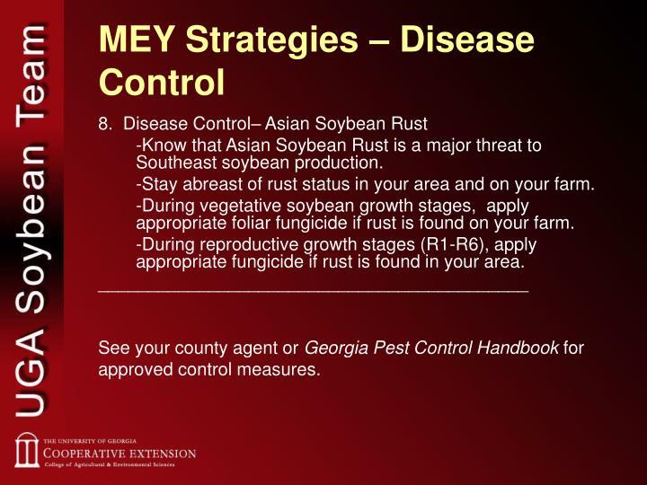 MEY Strategies – Disease Control