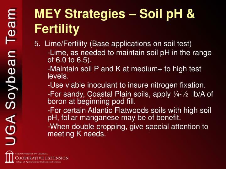 MEY Strategies – Soil pH & Fertility
