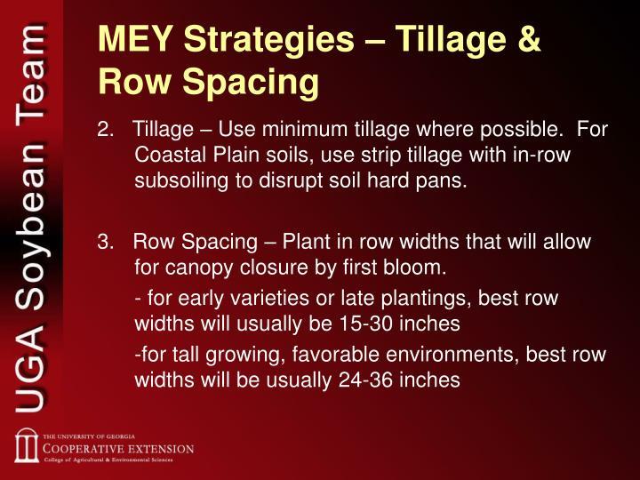 MEY Strategies – Tillage & Row Spacing