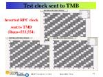 test clock sent to tmb