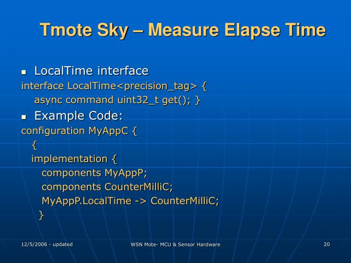 Tmote Sky – Measure Elapse Time