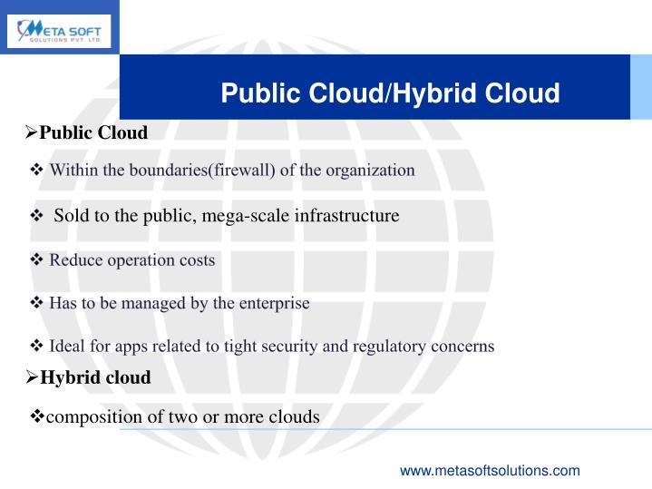 Public Cloud/Hybrid Cloud