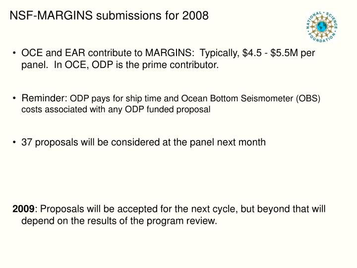 NSF-MARGINS submissions for 2008