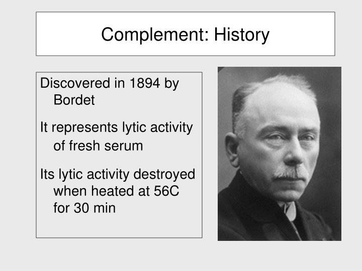 Complement history