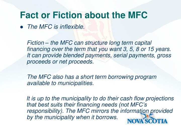Fact or Fiction about the MFC
