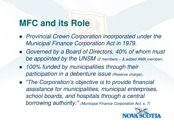 Mfc and its role