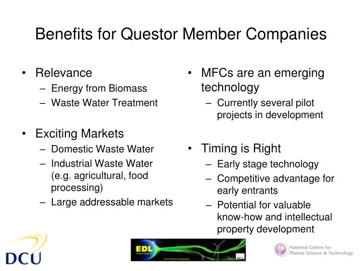 Benefits for questor member companies
