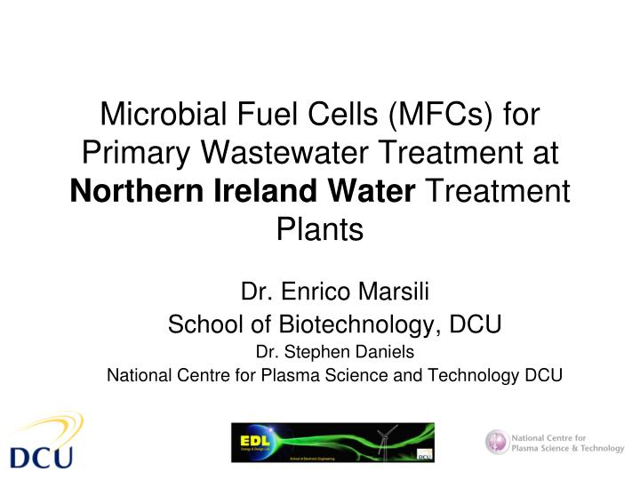 Microbial Fuel Cells (MFCs) for Primary Wastewater Treatment at