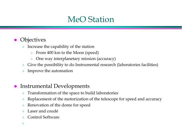 MeO Station