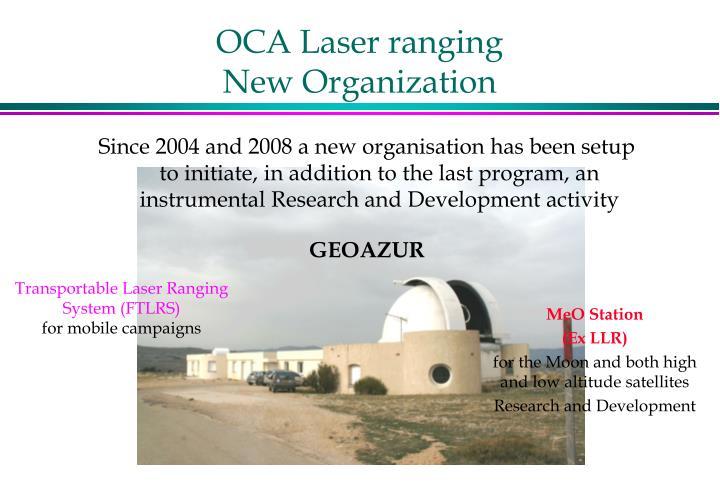 Oca laser ranging new organization1