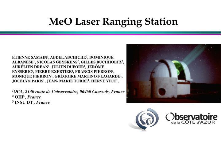 MeO Laser Ranging Station