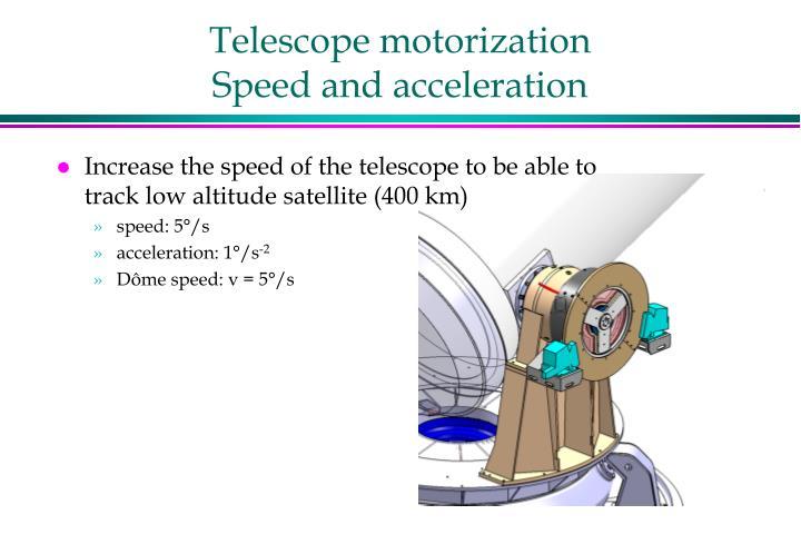 Telescope motorization