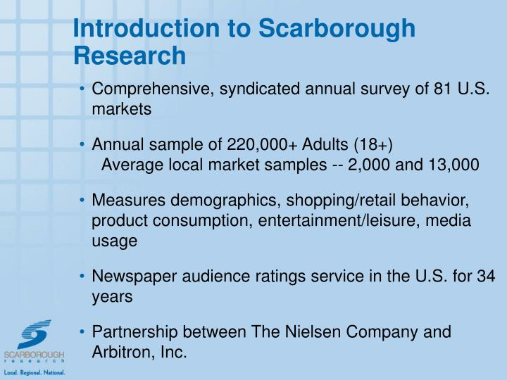 Introduction to Scarborough Research
