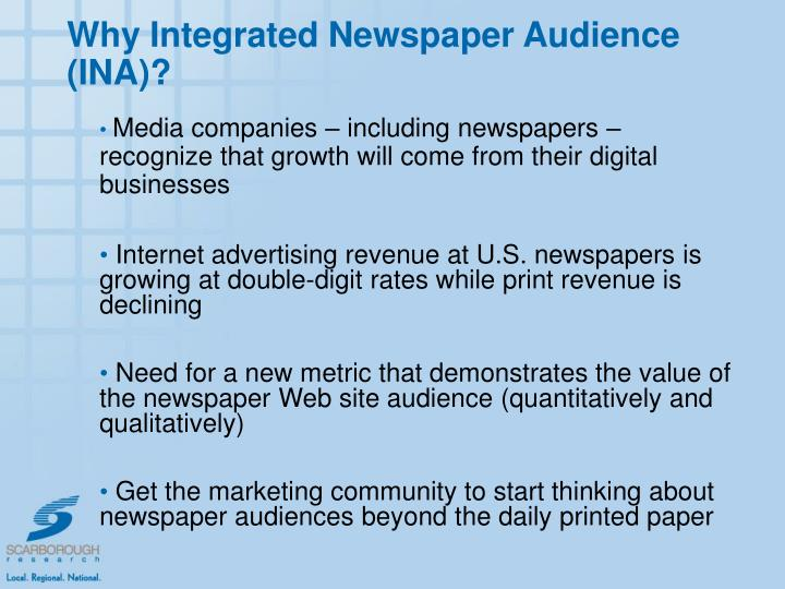 Why Integrated Newspaper Audience (INA)?