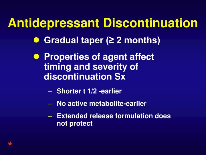Antidepressant Discontinuation