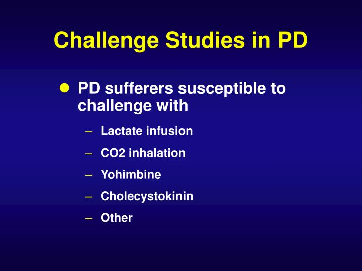Challenge Studies in PD