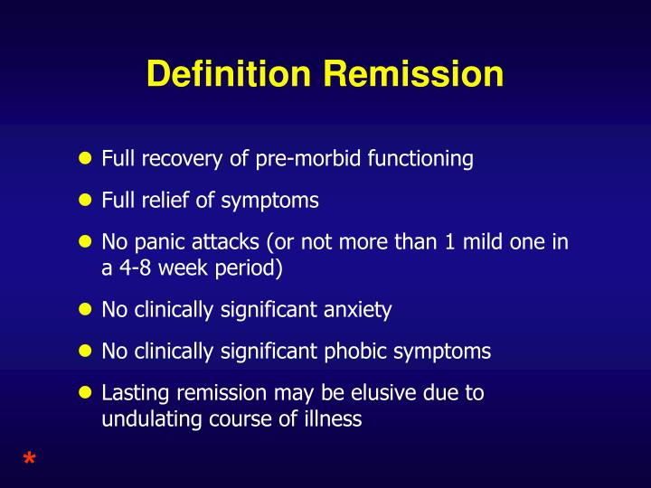Definition Remission