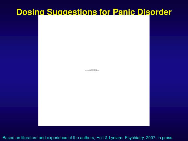Dosing Suggestions for Panic Disorder