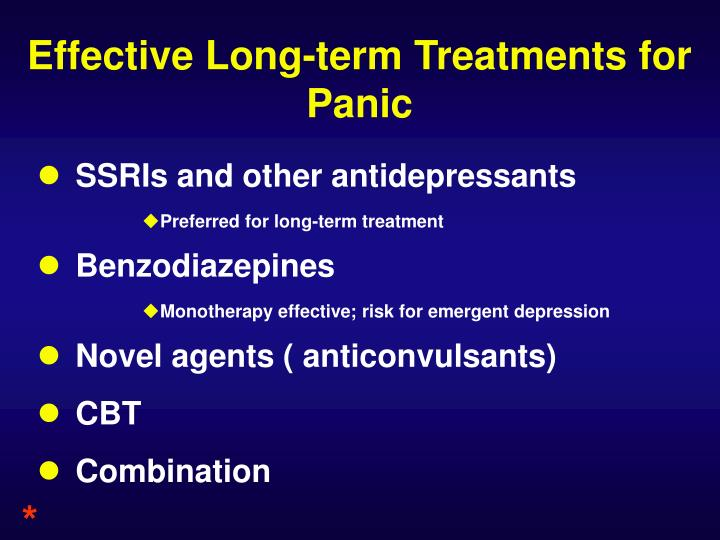 Effective Long-term Treatments for Panic