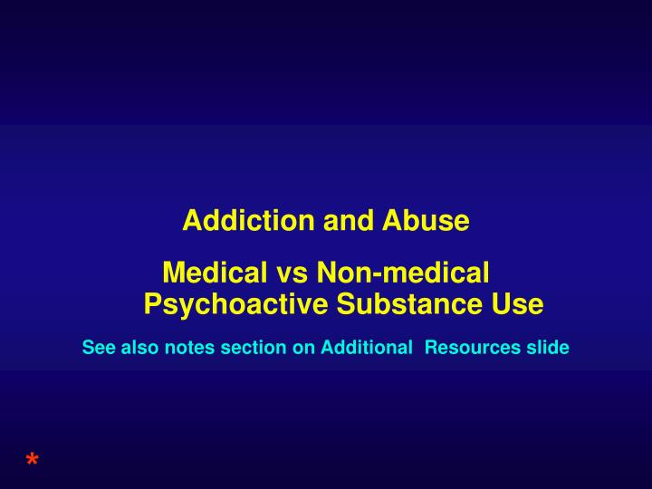 Addiction and Abuse