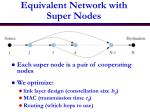 equivalent network with super nodes