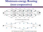minimum energy routing non cooperative