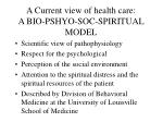 a current view of health care a bio pshyo soc spiritual model