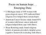 focus on human hope emerging data