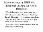 recent surveys by nihr find national institute for health research