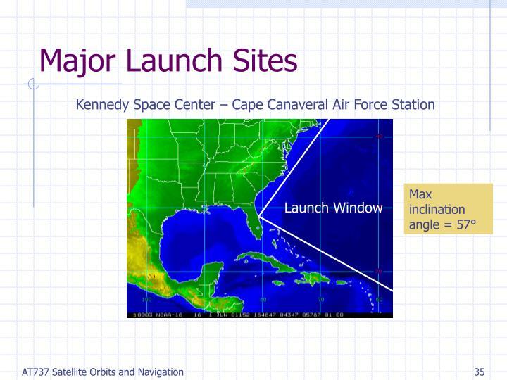 Major Launch Sites