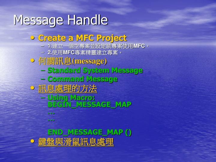 Message Handle