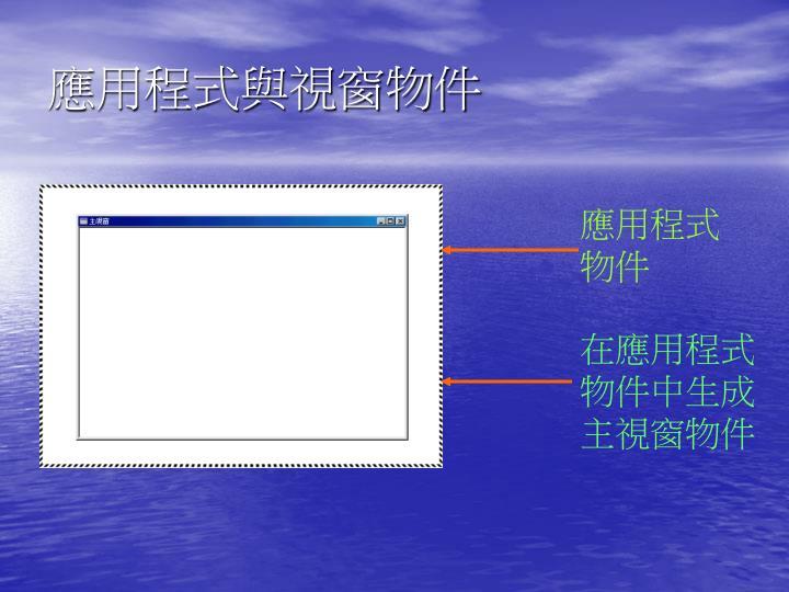 應用程式與視窗物件
