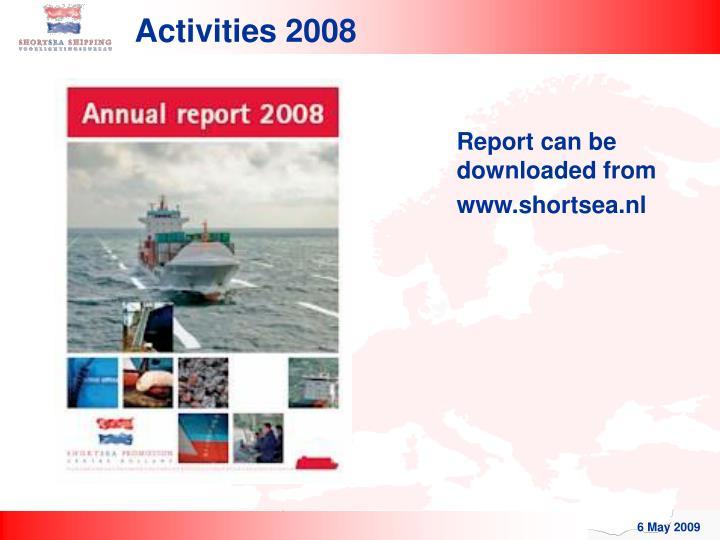 Activities 2008