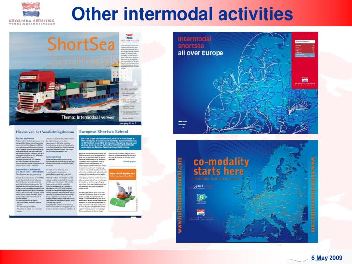 Other intermodal activities