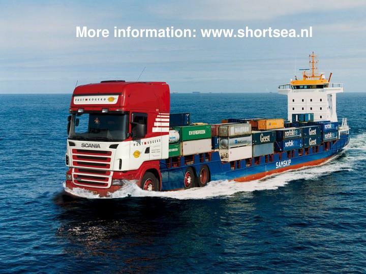 More information: www.shortsea.nl